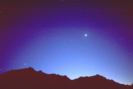"""Disse tre stjerner har tilsammen set ud som én mægtig stjerne. (Læs evt. mere om dette i bogen """"Jesus i stjernerne"""".)"""